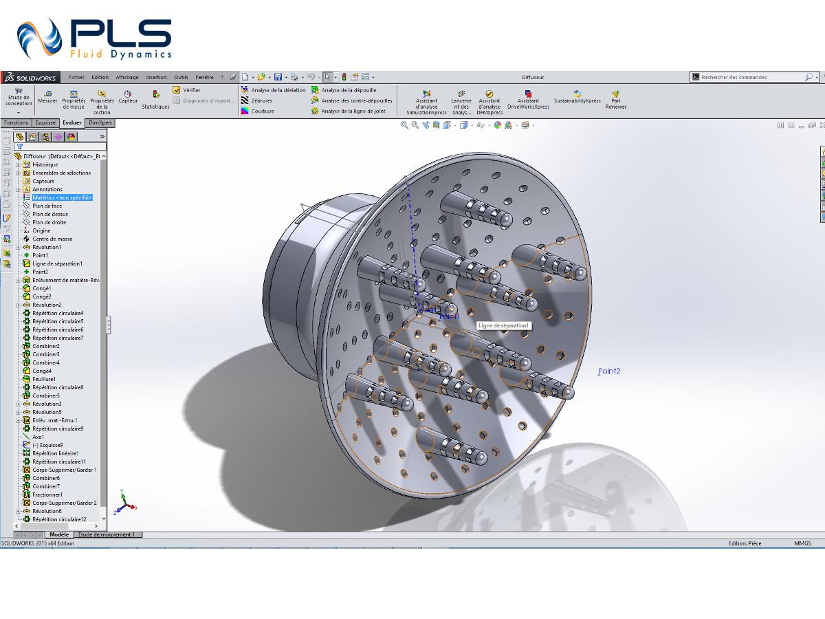 Pls fluid dynamics etudes simulations cfd for Etude de conception
